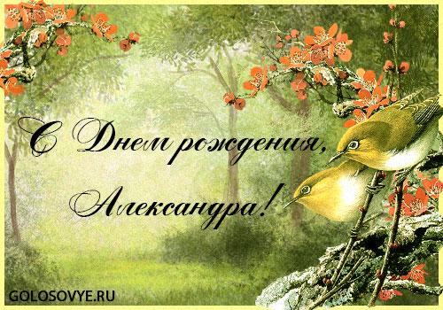 """Открытка """"С днем рождения, Александра!"""""""